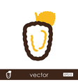 Blackberry bramble outline icon Berry fruit vector image vector image