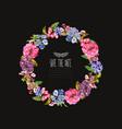 bright floral wreath vector image
