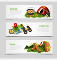 camping realistic banner set vector image