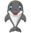 Cartoon funny dolphin vector image vector image