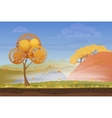 cartoon nature autumn landscape in storm rainy vector image vector image