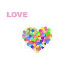 Colorful Confetti Heart vector image