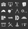 construction icons set grey vector image vector image