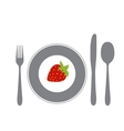 cutlery isolated on white vector image vector image