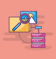 data server searching analysis folder vector image vector image