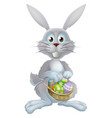 easter eggs bunny vector image vector image