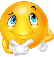emoticon happy face are thinking and posing vector image vector image