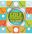 Golf Tournament Pattern Invitation vector image