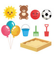 group of toys set collection vector image vector image