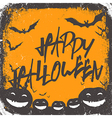 halloween background hand drawn lettering vector image vector image