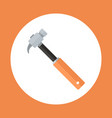hammer icon working hand tool equipment concept vector image vector image