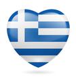 Heart icon of Greece vector image vector image