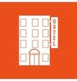 hotel building design vector image