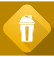 icon of Shaker with a long shadow vector image vector image