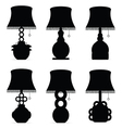 lamp set antique in black color on white vector image vector image
