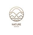 logo mountain landscape vector image