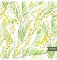Mimosa pattern vector image vector image