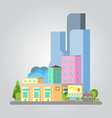 Modern flat design cityscape vector image vector image