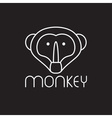monkey design template vector image vector image
