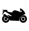 motorcycle black color icon vector image
