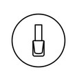 nail polish icon editable thin line vector image vector image