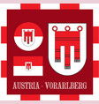 national ensigns of vorarlberg - austria vector image vector image