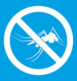 no mosquito sign icon white vector image vector image