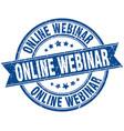 online webinar round grunge ribbon stamp vector image vector image