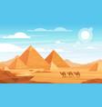 pyramids in desert flat vector image vector image