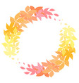 round autumn wreath made of leaves the object is vector image vector image