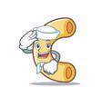 sailor macaroni character cartoon style vector image vector image