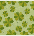 seamless pattern with clover with vector image
