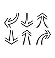 set of arrows pointers vector image