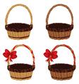 Set of Baskets4 vector image vector image
