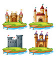 set of different castle vector image