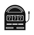 Slot machine jackpot black simple icon vector image