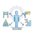 success people teamwork cooperation successful vector image vector image