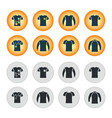 sweater sweatshirt t-shirt icon set vector image vector image