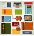 Textile Labels Set vector image