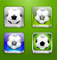 The app icons-soccer ball vector image