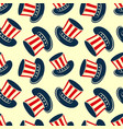 uncle sam hat seamless pattern vector image