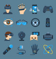virtual reality device set vector image vector image