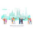 worldwide traveling banner vector image vector image