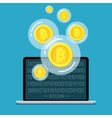 Concept of digital currency vector image