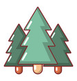 fir tree icon cartoon style vector image