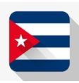 Simple flat icon Cuba flag vector image