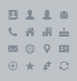 Contact icons deboss theme vector | Price: 1 Credit (USD $1)