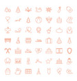 49 holiday icons vector image vector image