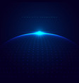 abstract 3d blue glowing dots particles sphere vector image