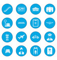 airport black icon blue vector image vector image